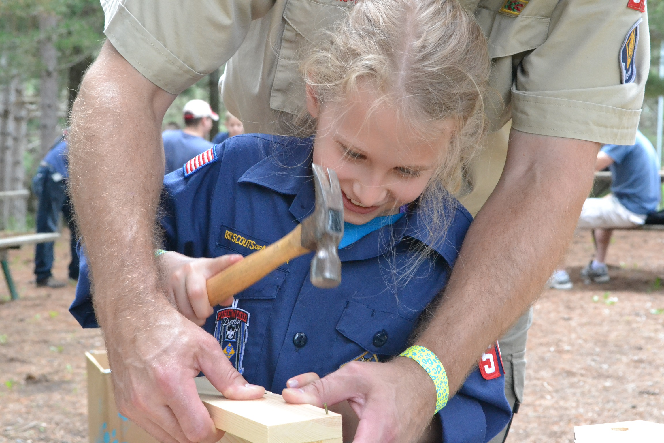 Girl Cub Scouts at Camp