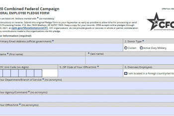 Federal employees paper pledge form